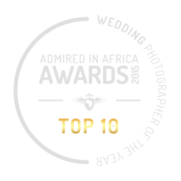 Admired in Africa award - Top ten wedding photographers in Africa